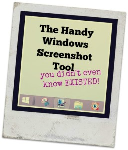 The Handy Windows Screenshot Tool You Didn't Know Existed!