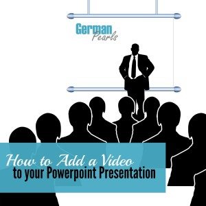 A step by step tutorial which walks you through two different ways to add a video to a powerpoint presentation.