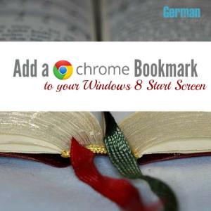 Google Chrome Bookmark to Windows 8 Start Screen