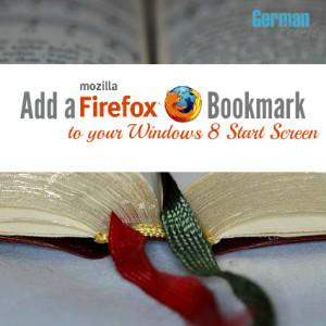 Add a Mozilla Firefox Bookmark to your Windows 8 Start Screen