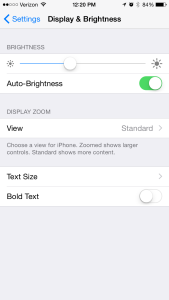 iPhone Display Brightness Battery Life