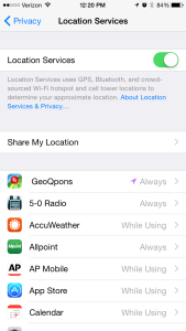 iPhone Location Services Battery Life
