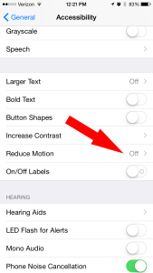 iPhone Reduce Motion Battery Life