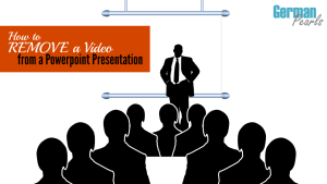 How to remove a video (or other object) that's embedded in a Powerpoint presentation.