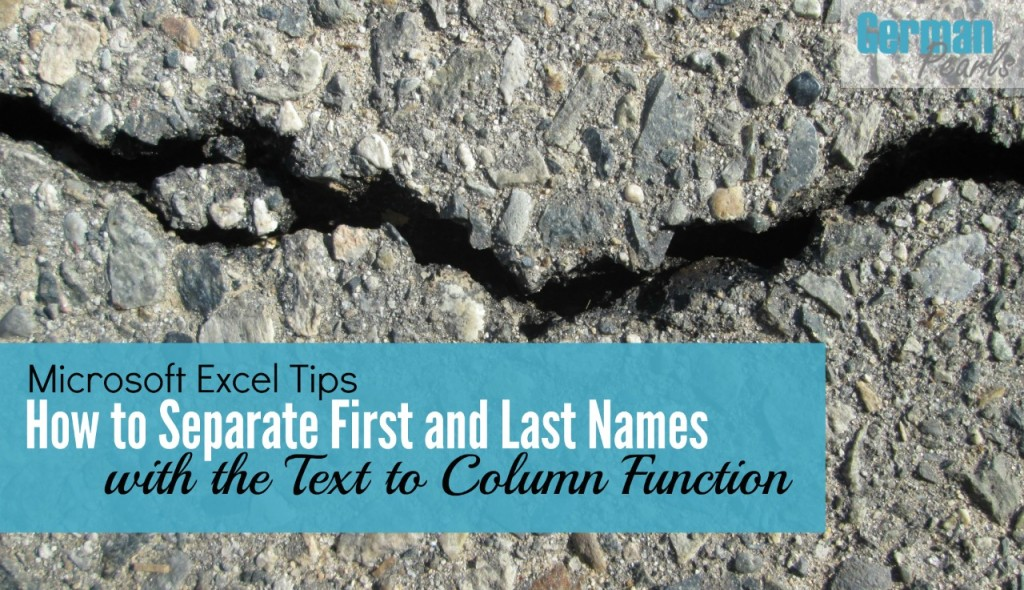 Learn how to use the Microsoft Excel text to columns function to split first and last names into separate columns in this quick tutorial.