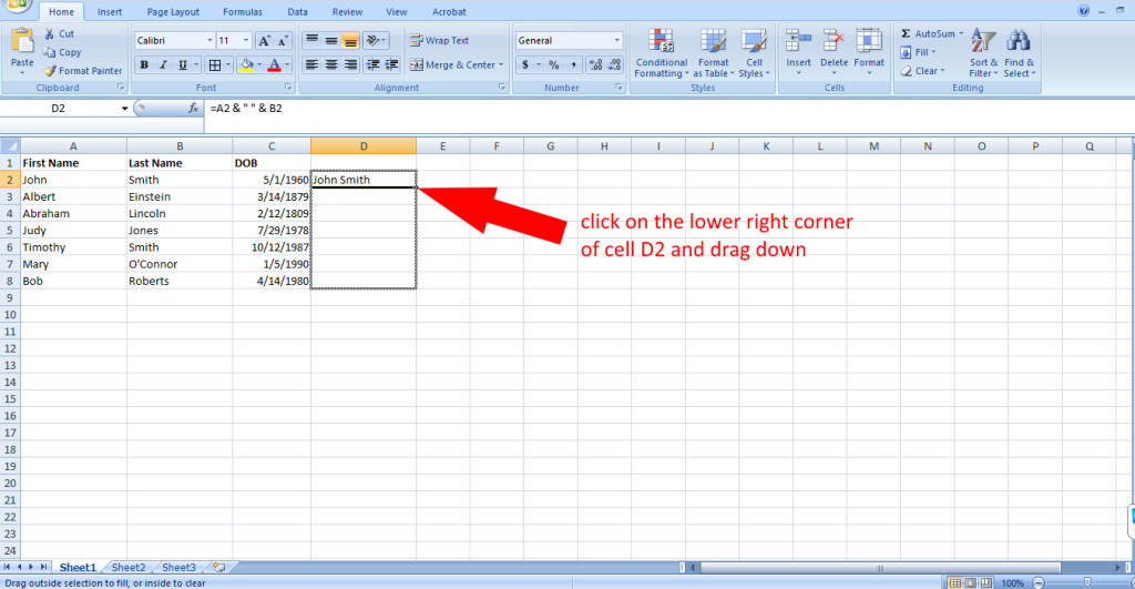 how to concatenate in excel