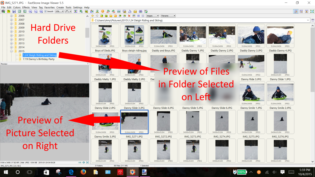 How to Organize Digital Pictures using FastStone Image Viewer