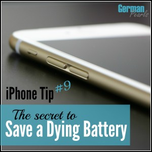 iPhone Tip #9 – The Secret to Save a Dying Battery