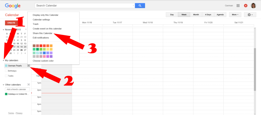 How to Share a Google Calendar AND see it on an iPhone