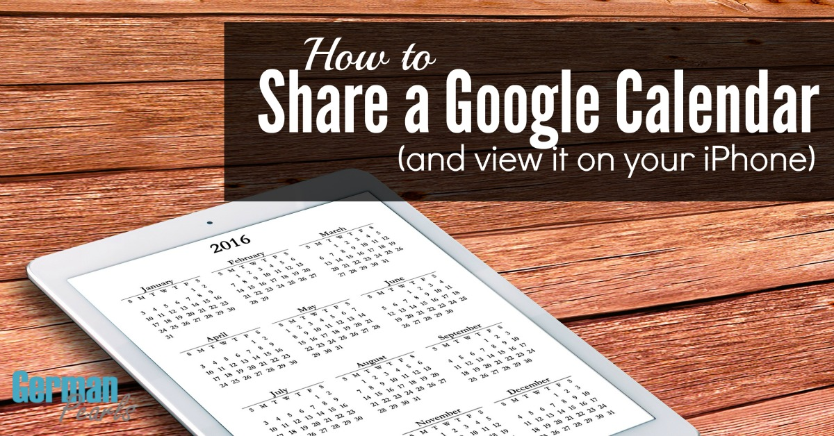 How To Get Shared Google Calendar On Iphone