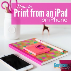 How to print from iPad? How to print from iPhone? There are a few ways to print from an iPhone or iPad and we'll show you how!