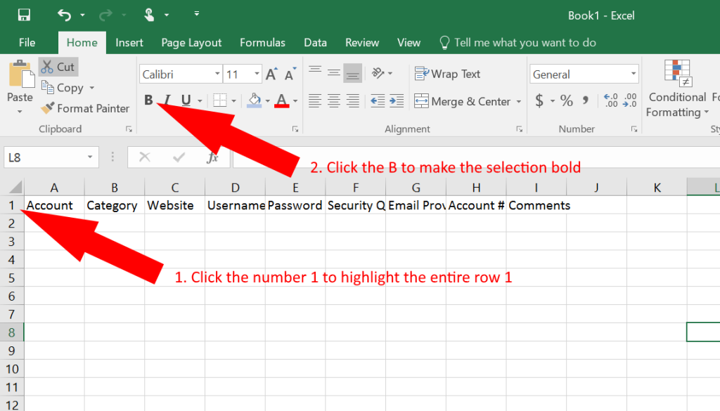 how to use excel as a password keeper free template german pearls