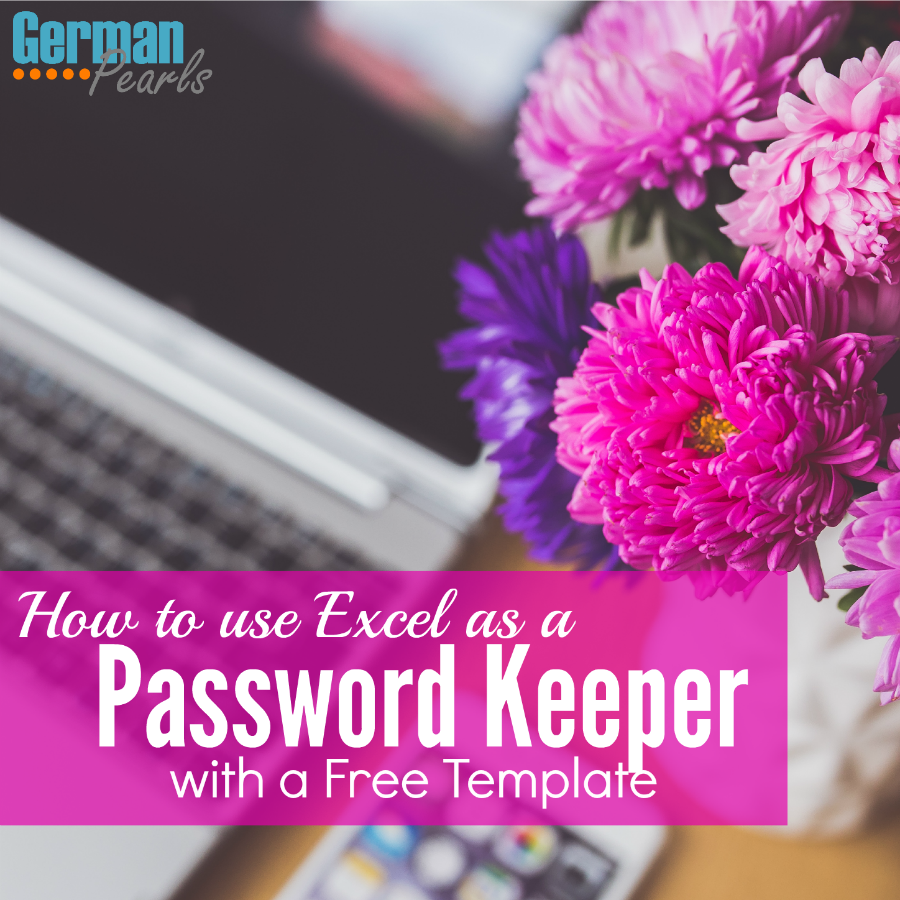 Here's a tutorial on how to use excel as a password keeper, with a free template for a password book! Never lose a password again!