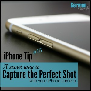 If you like to take pictures of kids or sporting events you will not want to miss this tip. It will help you take great action shots with your iPhone!