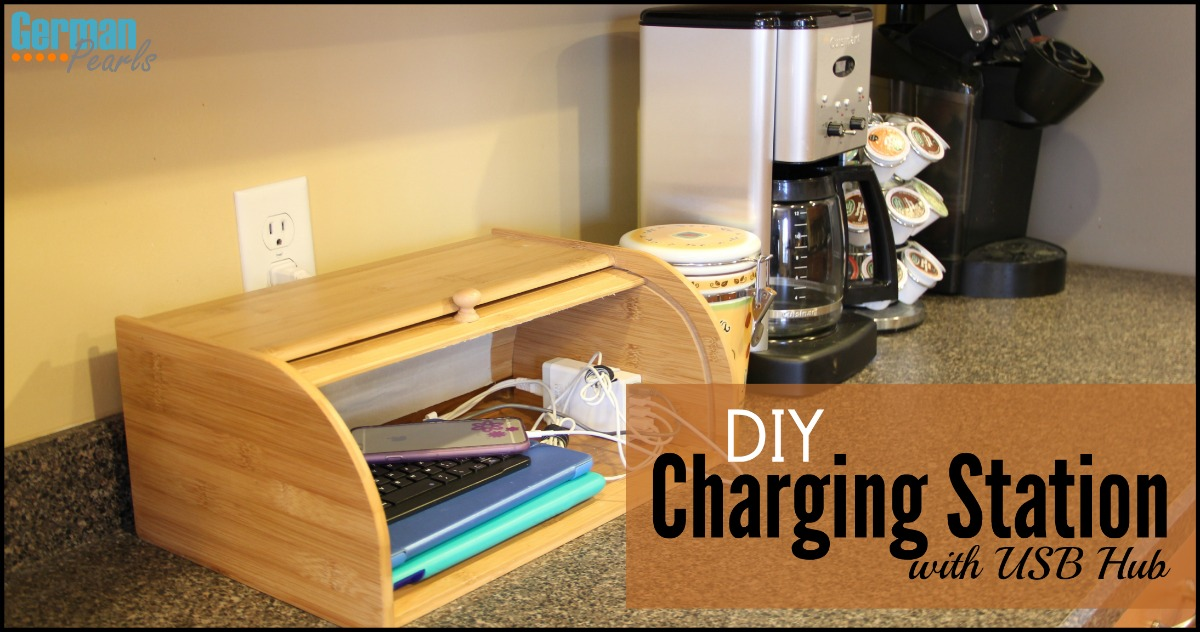 Diy Charging Station Organizer With Usb Hub German Pearls