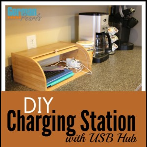 DIY Charging Station Organizer with USB Hub
