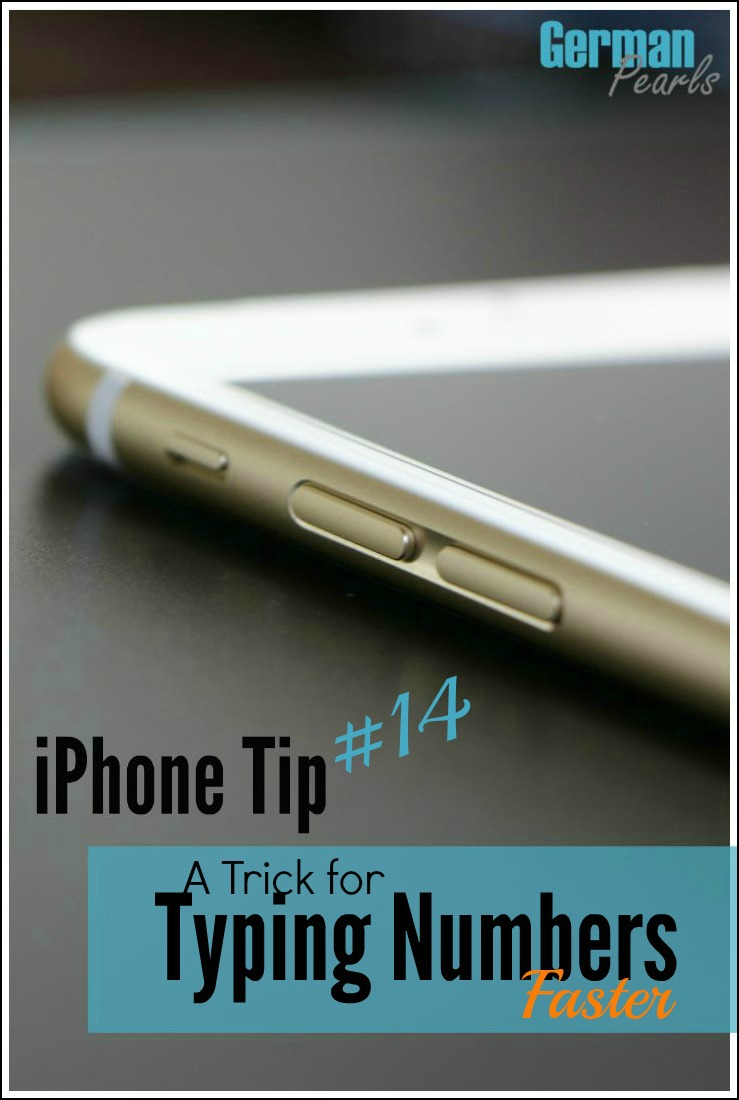Any tips for typing faster on that tiny iPhone keyboard are worth it! Here's a trick to type numbers faster.
