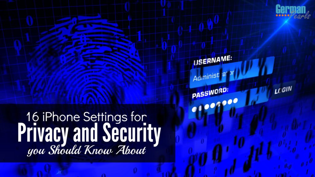 iPhone Settings to increase your security and privacy