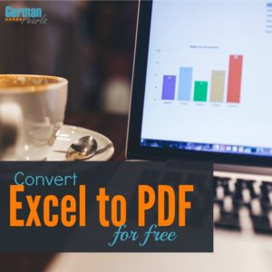 The free Excel to PDF Converter