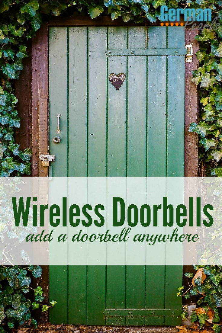 This is so cool. You can use a wireless doorbell to add a doorbell anywhere. It's so quick and cheap!
