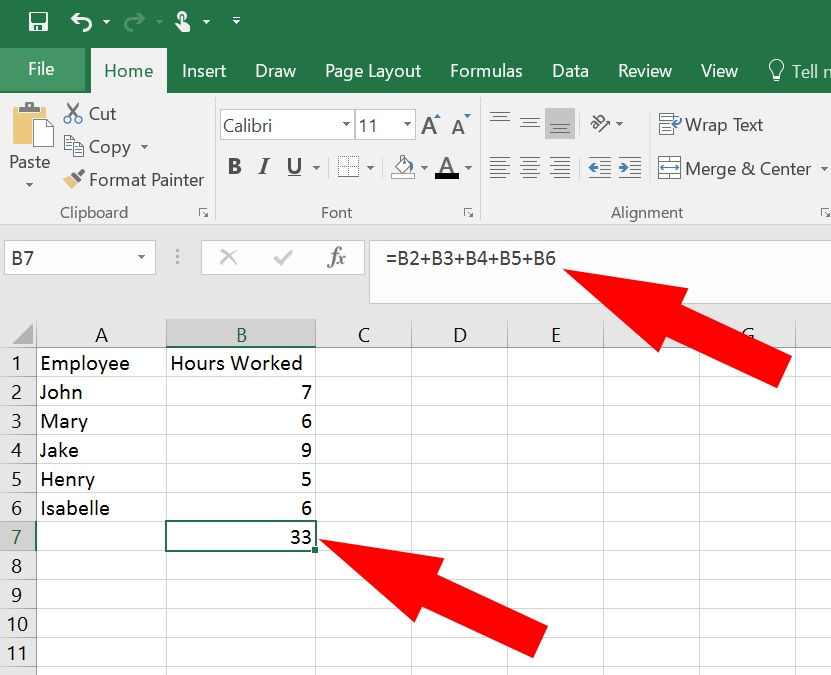 How to add in excel - adding cells in microsoft excel