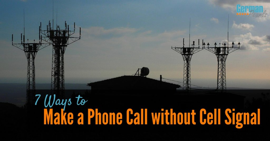 For an area of poor or spotty phone reception here are 7 ways to make a phone call without cell signal.
