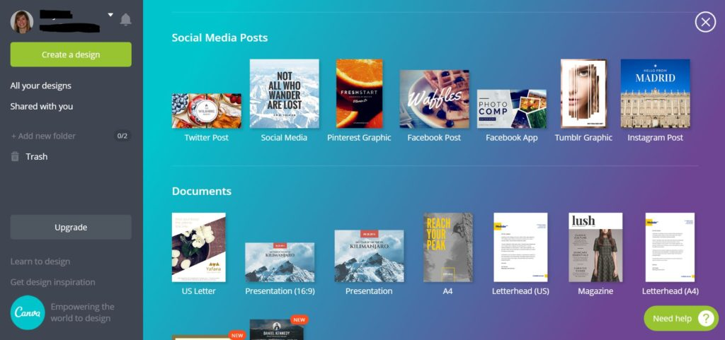Online Picture Editing Tools - Canva