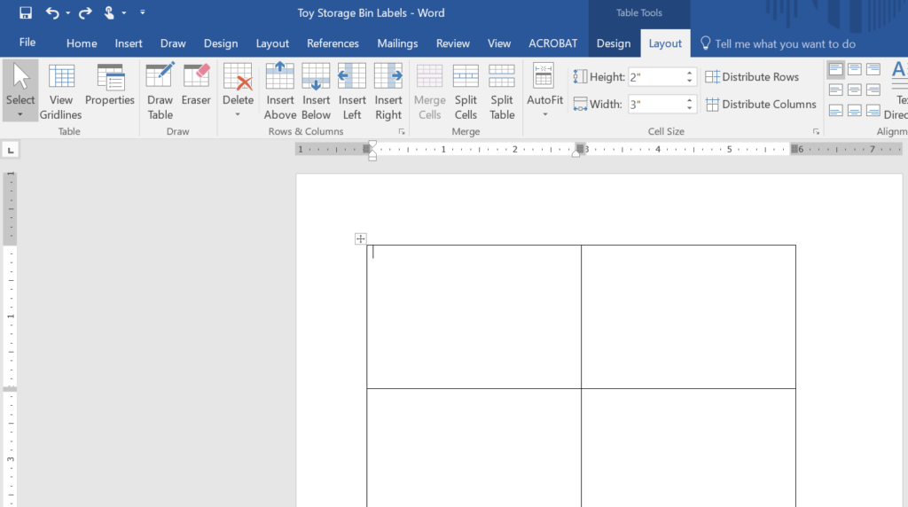 make your own labels in microsoft word for toy storage organization