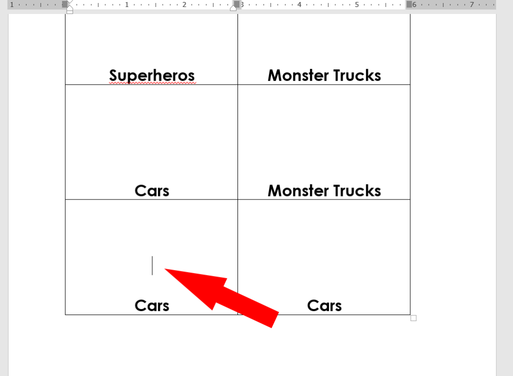 diy labels in microsoft word with toy pictures and words for toy organization