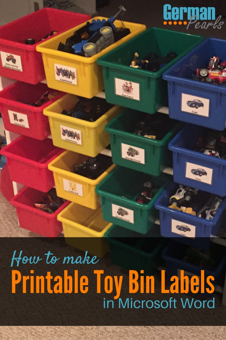 tutorial makes it so easy to make your own printable labels for toy ...