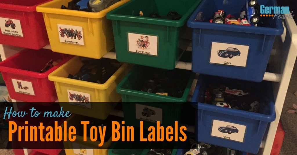 DIY Printable Labels to Keep the Kids' Toys Organized