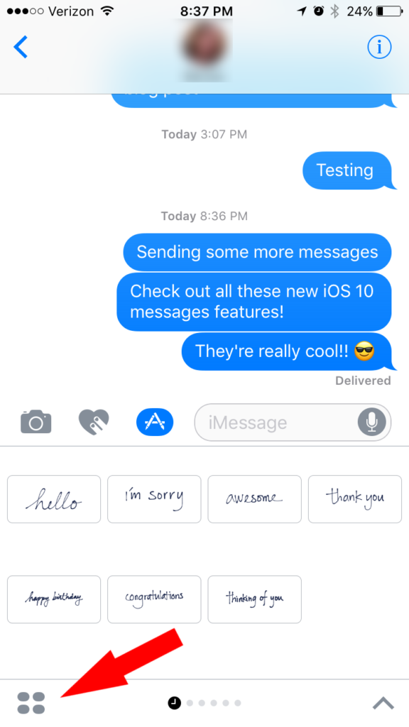 iOS 10 Message Apps - How to Access Message Apps