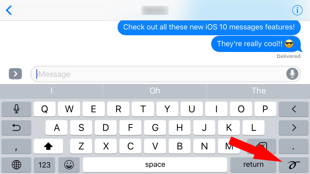 New iOS 10 Message Features - Send a Handwritten Message