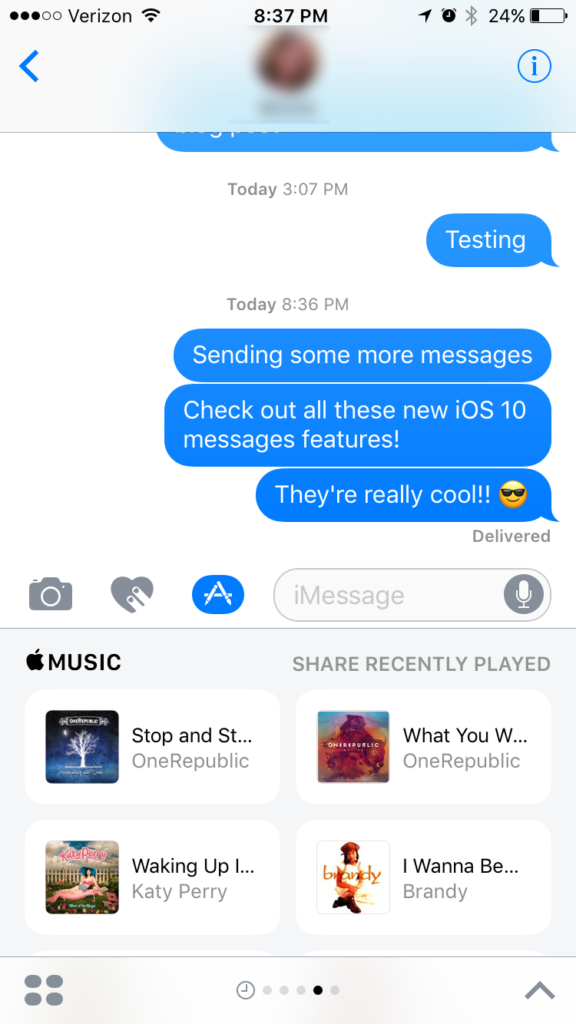 iOS 10 Message Features - Send a Music Clip in a Message