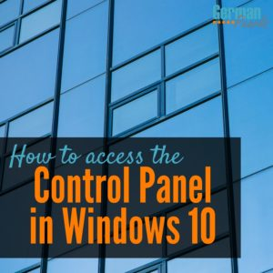 Have you been wondering how to access the control panel in Windows 10?