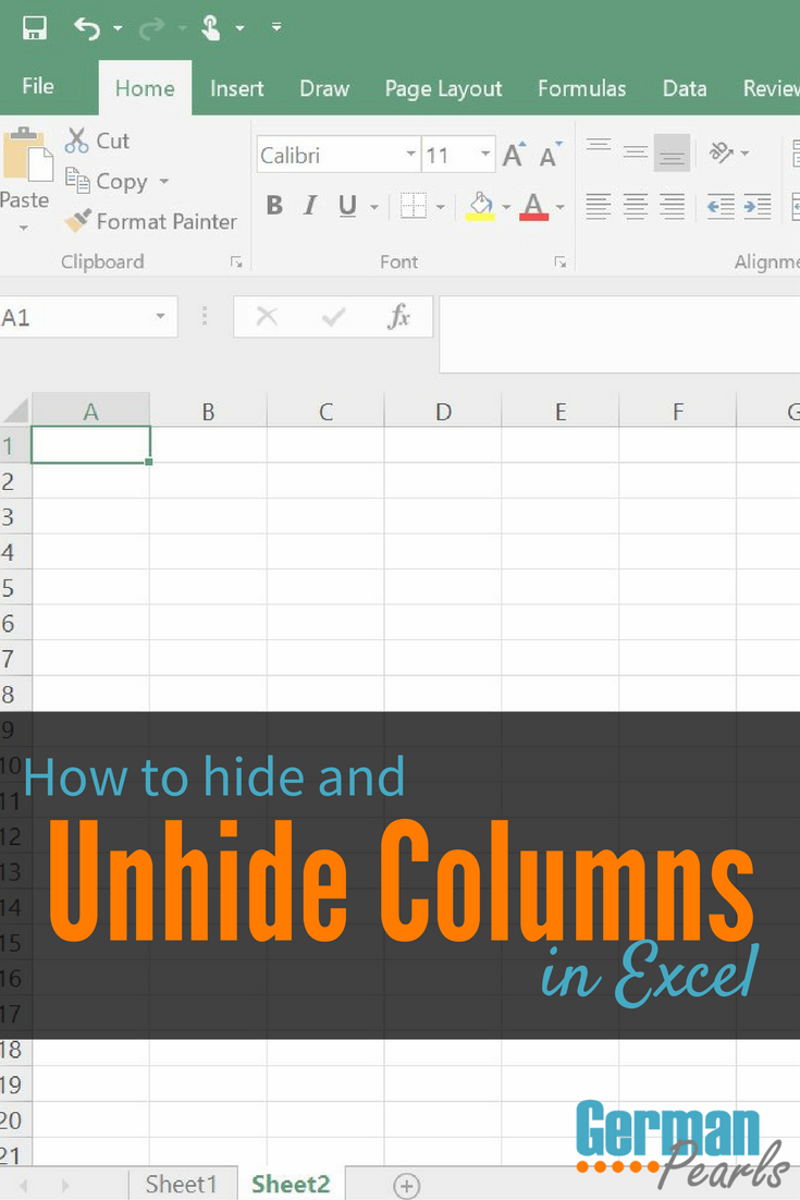 How to Hide and Unhide Columns in Excel | Hide an Excel Column | Unhide a Column in Microsoft Excel
