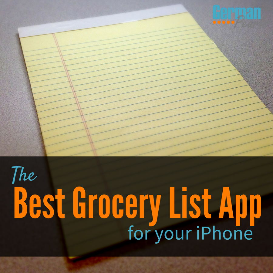 The best grocery list app for your iphone german pearls - Home design app used on love it or list it ...