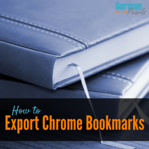 How to Export Chrome Bookmarks