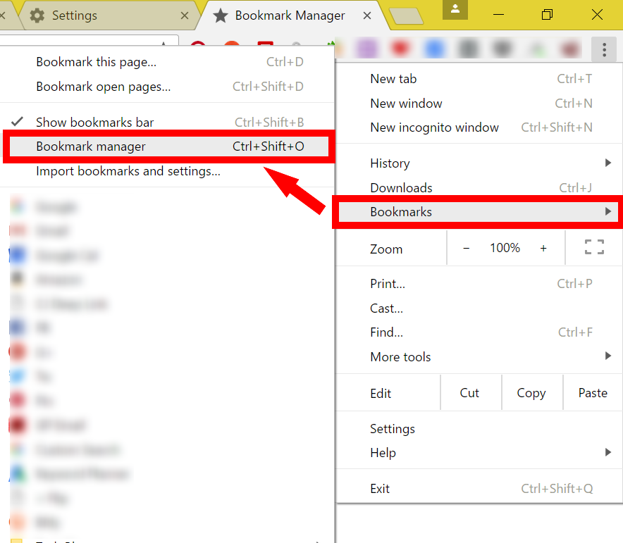 How to export chrome bookmarks to edge