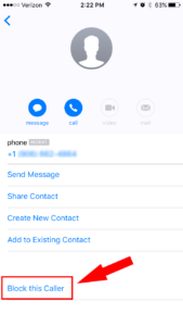 how to block a unknown number on iphone