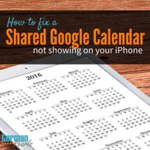 Shared Google Calendar Not Showing on your iPhone?