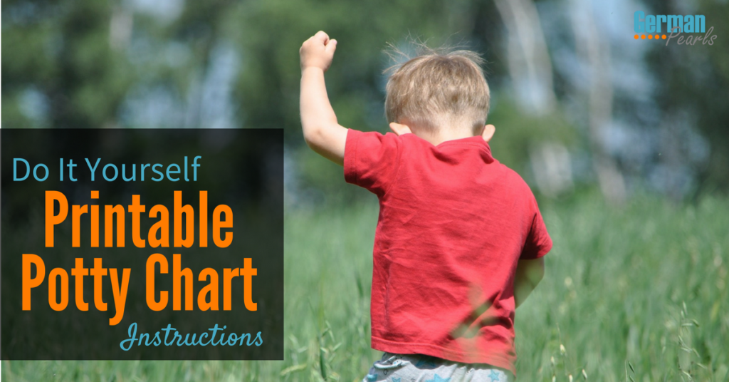 How to Create a DIY Printable Potty Chart for Potty Training your Toddler
