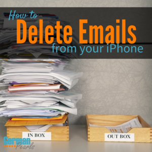 How to Delete Several Emails at Once from your iPhone