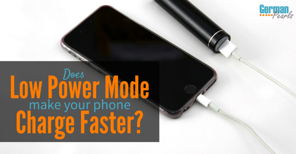 Does Low Power Mode Make My Phone Charge Faster?