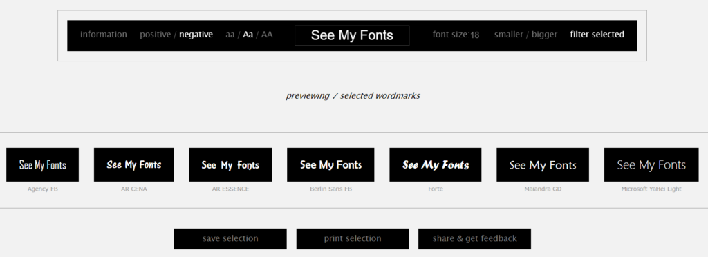 Use Wordmark.It to view all the fonts on your computer on an internet browser