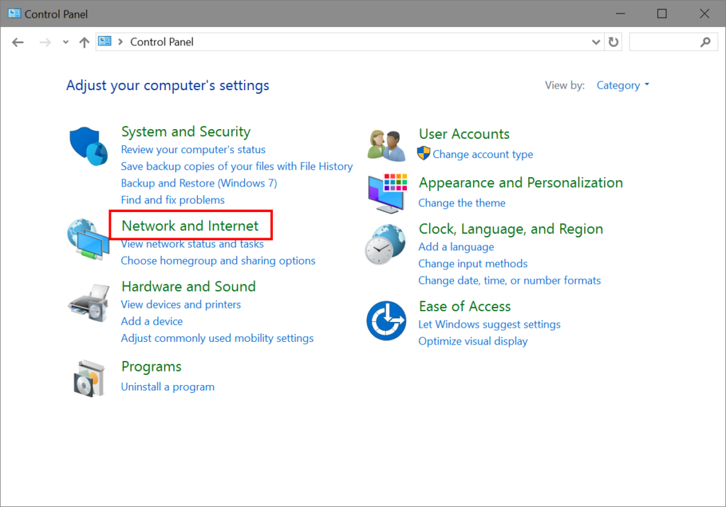 network printer in windows 10