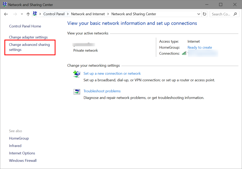 Create network printer in windows 10