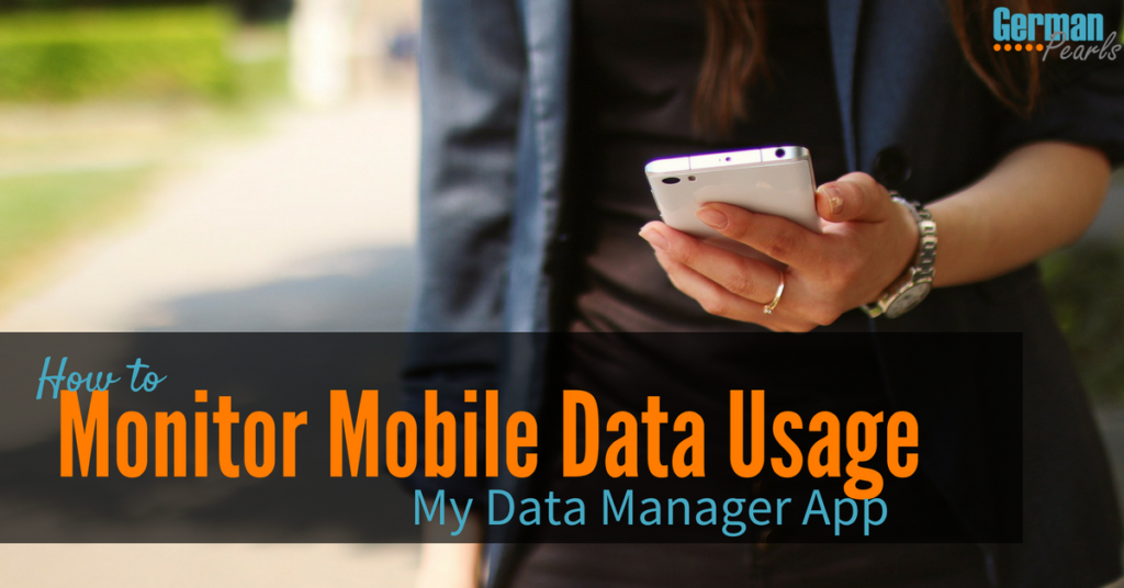 My Data Manager App: A Mobile Data Usage Monitor for your iPhone or Android