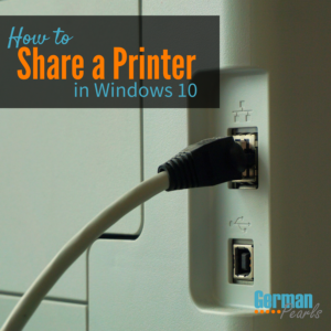 How to Share a Printer in Windows 10 to Create a Network Printer