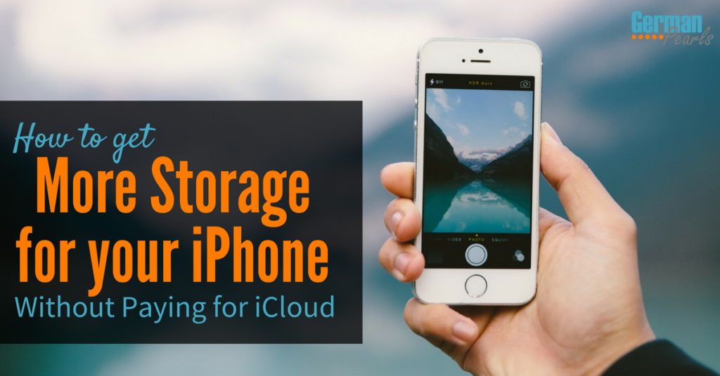 How to Buy More Storage for iPhone not iCloud